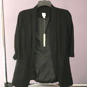 LC Lauren Conrad Black Asymmetrical Dress Jacket